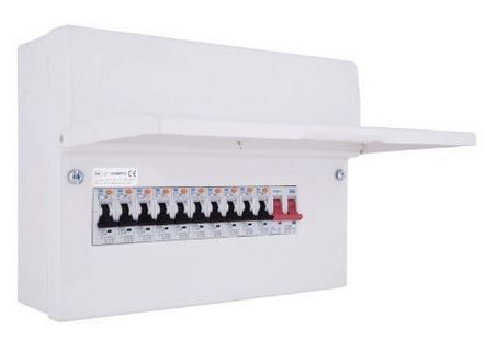 BG CFUSWP110 Populated 10 Way 12 Module Main Switch 100A Consumer Unit with 10 RCBOs