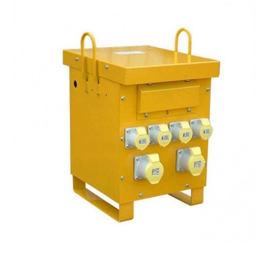 Briticent 10kVa Single Phase Site Transformer 7kVA 230V-110V4 x 16A, 2 x 32A