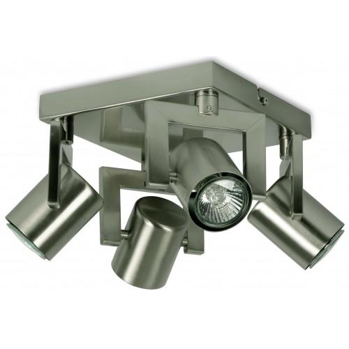 4 LT SQU SPOTLIGHT+LAMPS