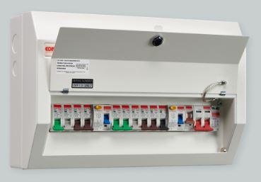 Contactum 10W Metal Consumer Unit 2xRCD 10xMCB