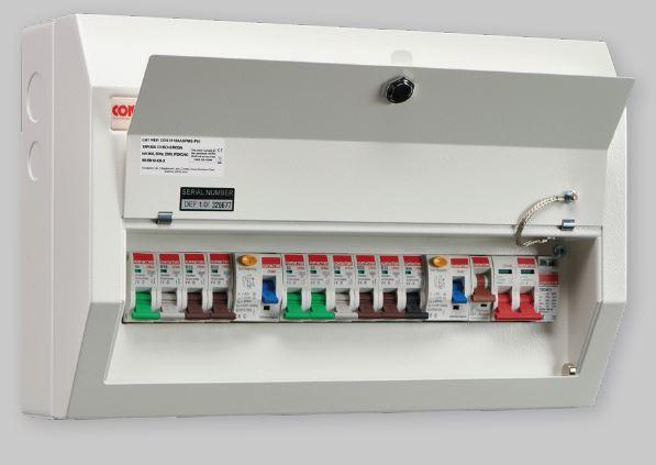 Contactum 14W 2xRCD+SPD Metal Consumer Unit with MCBs