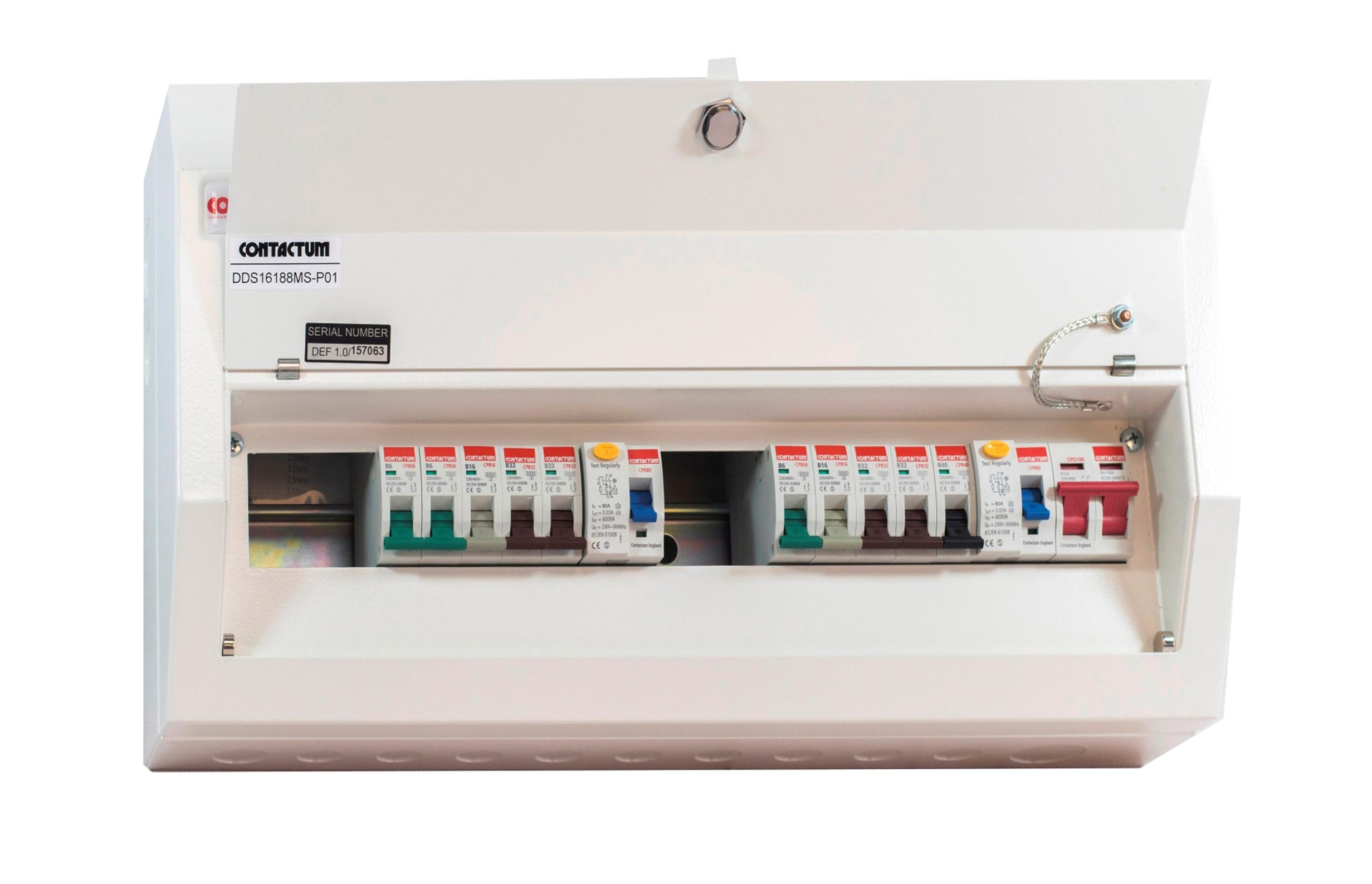 Contactum DDS16188MS-P01 Consumer Unit 16Way 100A