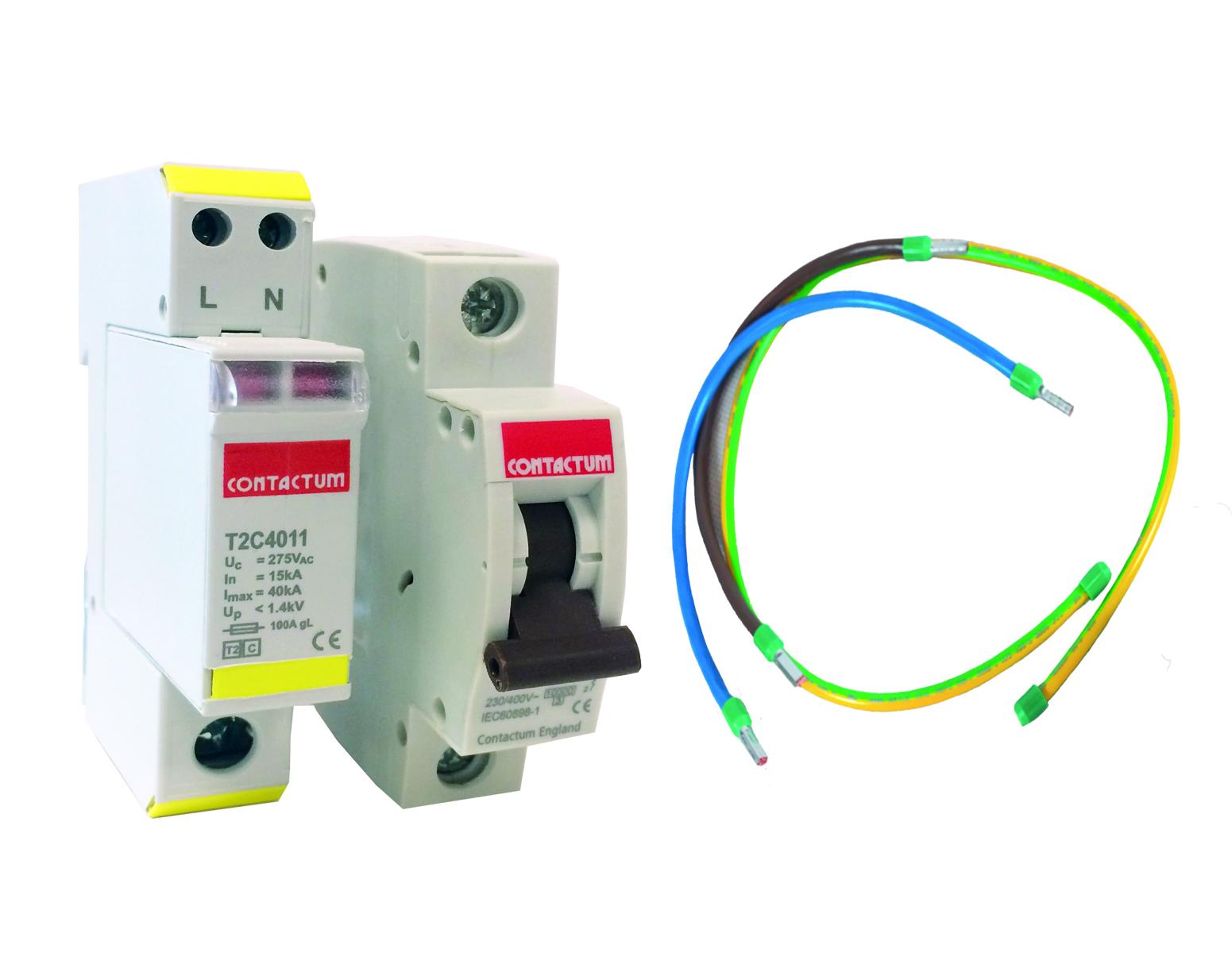 Contactum T2C4011KIT T2 Surge Protection Kit 40kA