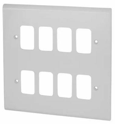 Deta G3306 Frontplate 8 Gang White