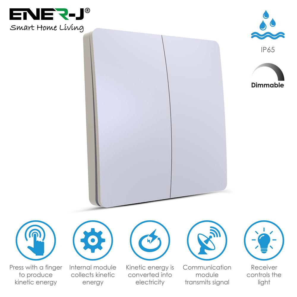 ENER-J WS1025 Pro Series Wireless Dimmable 2 Gang Switch