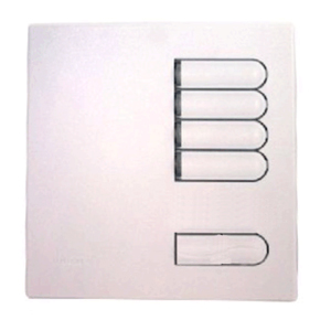 Lutron Euro Style GRX Master Wall Station 4 Button for Grafik Eye Integrale and 3000 models in White
