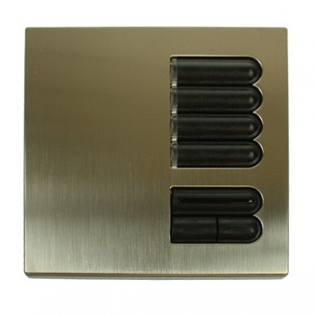Lutron Euro Style GRX Wall Station 4 Button with IR Receiver for Grafik Eye Integrale and 3000 model in Satin Nickel