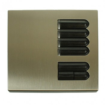 Lutron Euro Style GRX Wall Station 4 Button for Grafik Eye Integrale and 3000 models in Satin Nickel