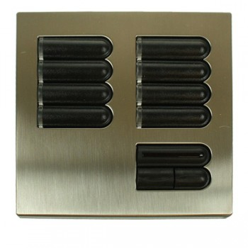 Lutron Euro Style GRX Wall Station 8 Button with IR Receiver for Grafik Eye Integrale and 3000 model Satin Nickel