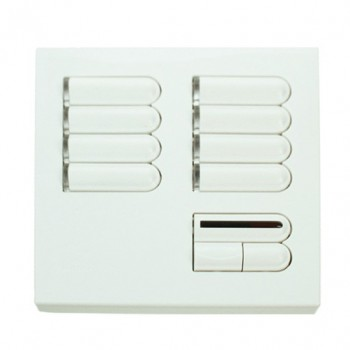 Lutron Euro Style GRX Wall Station 8 Button with IR Receiver for Grafik Eye Integrale and 3000 model in White
