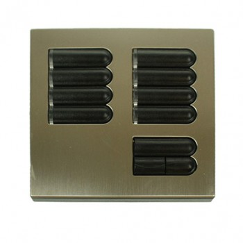 Lutron Euro Style GRX Wall Station 8 Button for Grafik Eye Integrale and 3000 models in Satin Nickel