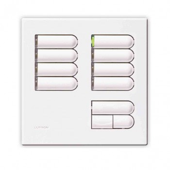 Lutron Euro Style GRX Wall Station 8 Button for Grafik Eye Integrale and 3000 models in White
