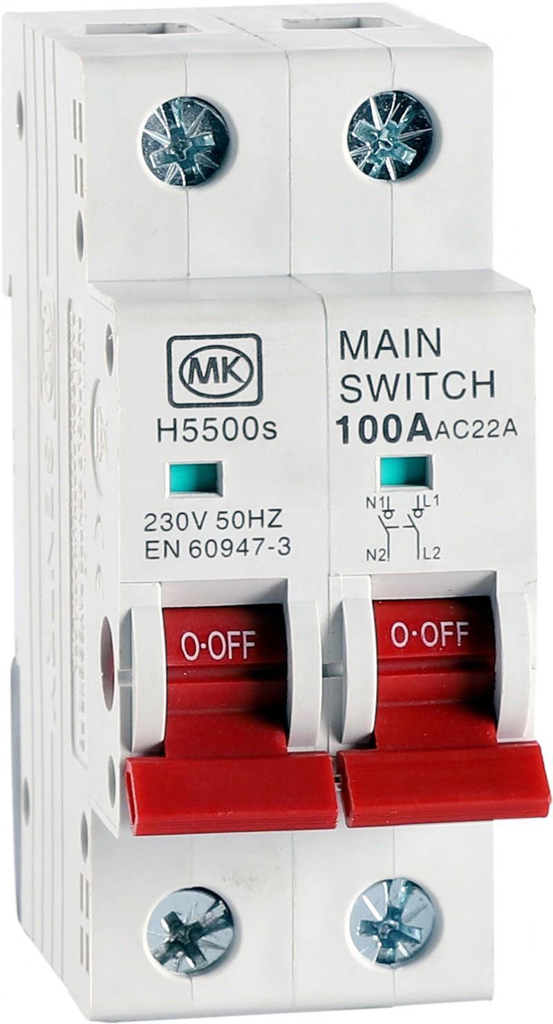 MK Sentry MK5500S DP Switch Disconnector 100A