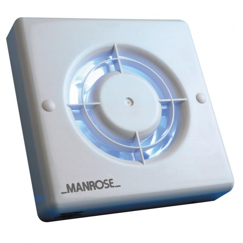 """Manrose XF100T Axial Wall/Ceiling Fan c/w Timer 100mm/4"""" 230V"""