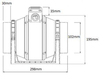 Manrose MF100T Inline Induct Fan & Timer