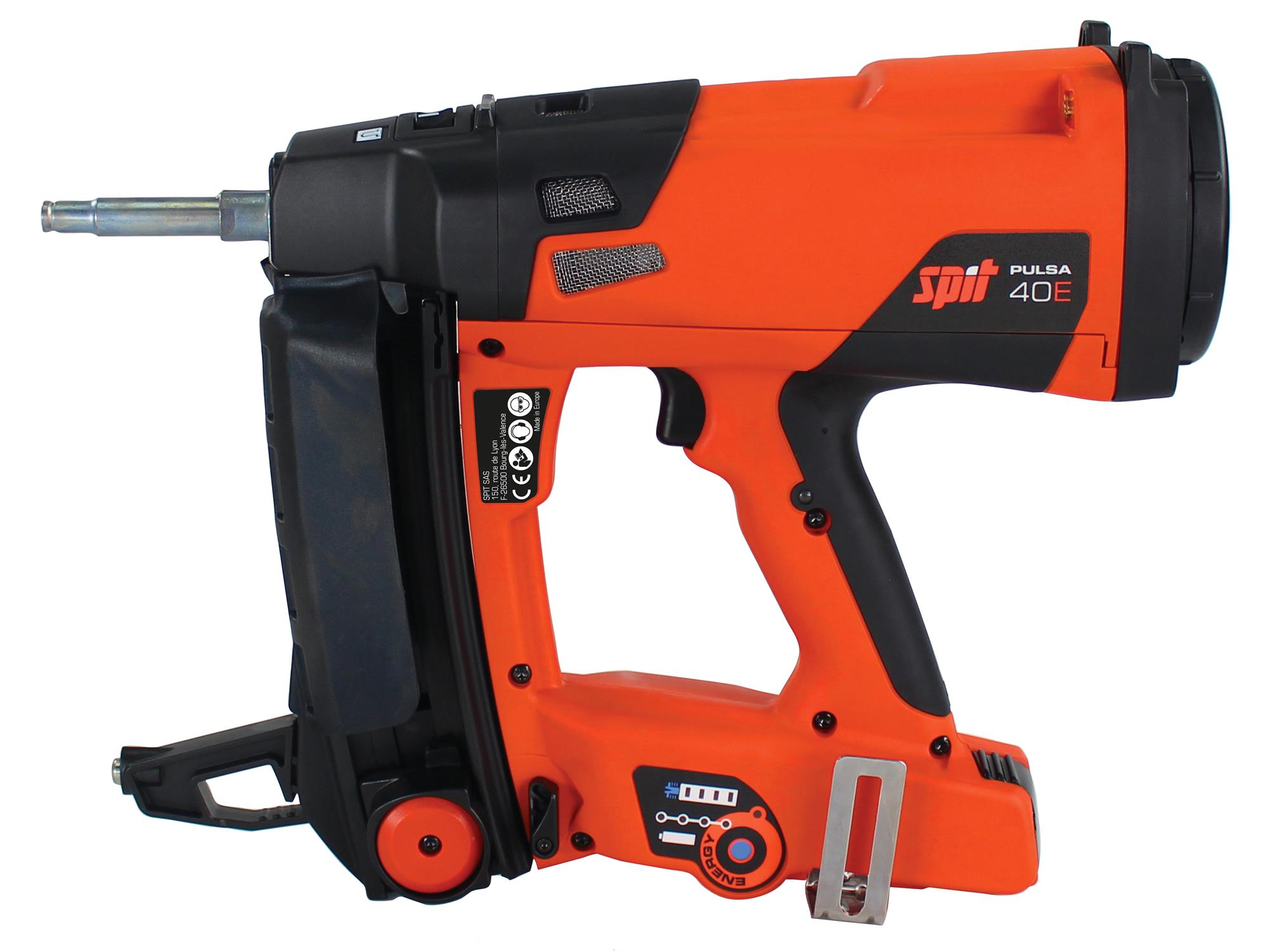 SPIT 019679 Pulsa 40E New and enhanced cordless gas nailer for M&E applications into concrete, steel, masonry & timber