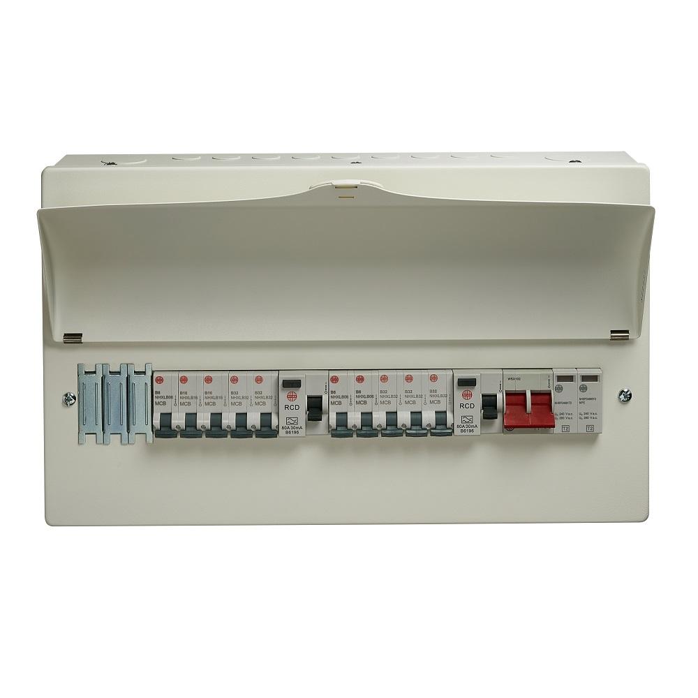 Wylex WNM1773 13Way 2 x RCD + SPD METAL  CU + 10 x MCBS