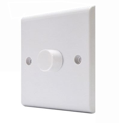 Deta S1414 Universal LED Dimmer Switch 1 Gang 2 Way 3 - 250 Watt White