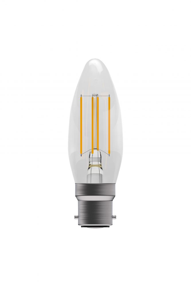 Bell Pro LED Filament Candle Full Glass Non-Dimmable 4W BC Warm White