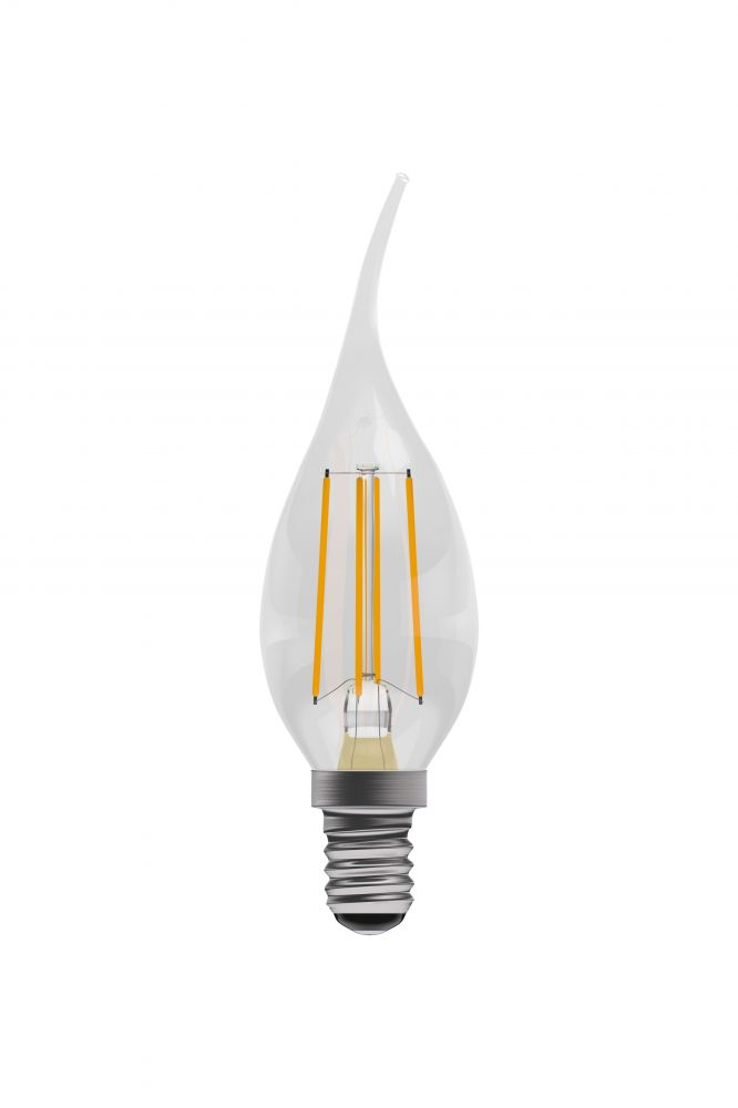 Bell Pro LED Filament Bent Tip Candle Non-Dimmable 4W SES Warm White