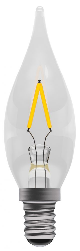 Bell Pro LED Filament Clear Chandelier Non-Dimmable 4W SES Warm White