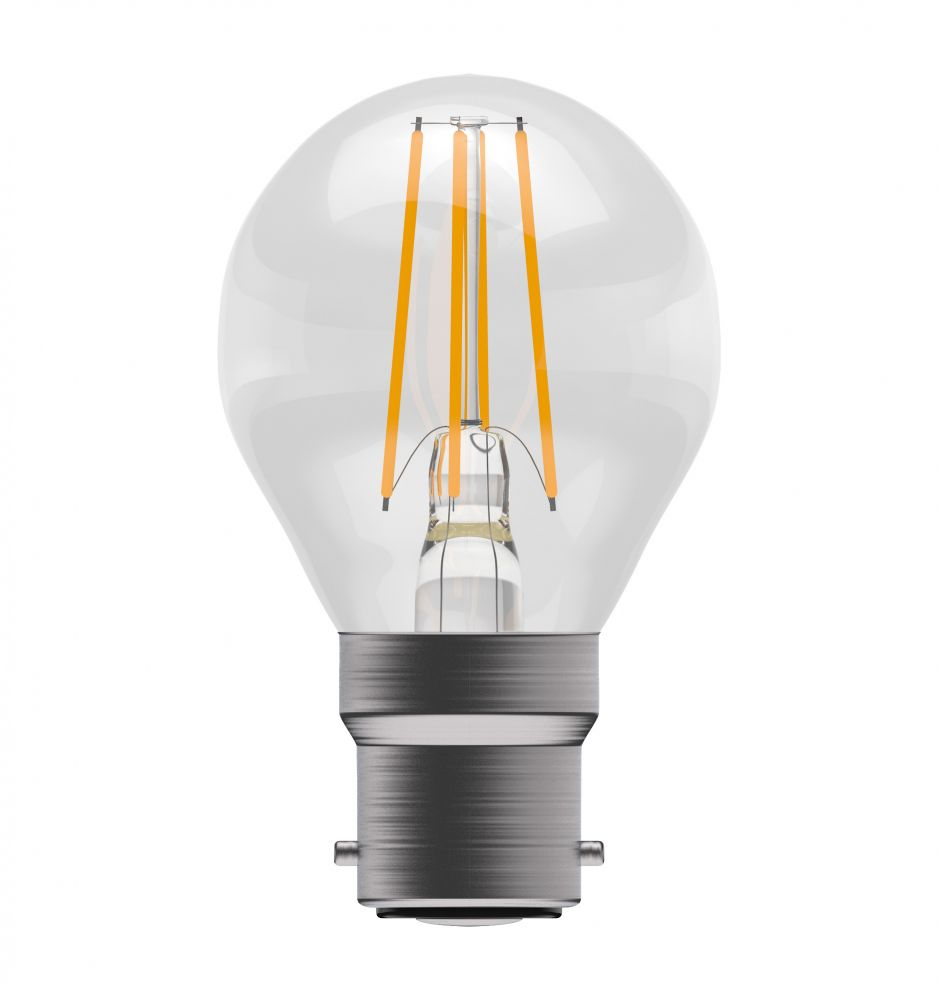 Bell Pro LED Filament Round Full Glass Non-Dimmable 4W BC Warm White