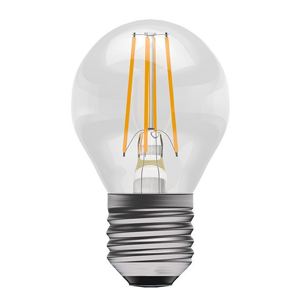 Bell Pro LED Filament Round Full Glass Non-Dimmable 4W ES Warm White
