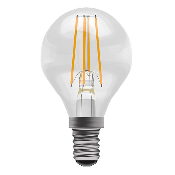 Bell Pro LED Filament Round Full Glass Non-Dimmable 4W SES Warm White