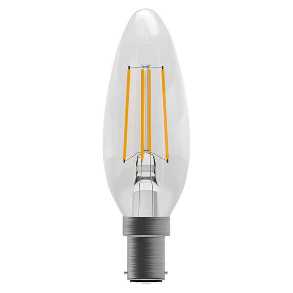 Bell Pro LED Filament Candle Full Glass Dimmable 4W SBC Warm White