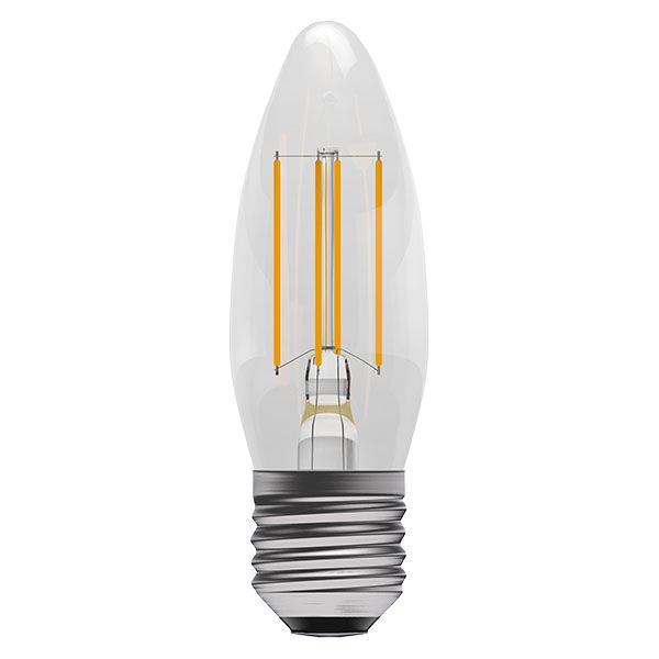 Bell Pro LED Filament Candle Full Glass Dimmable 4W ES Warm White