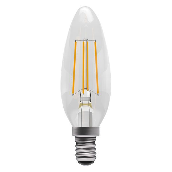 Bell Pro LED Filament Candle Full Glass Dimmable 4W SES Warm White