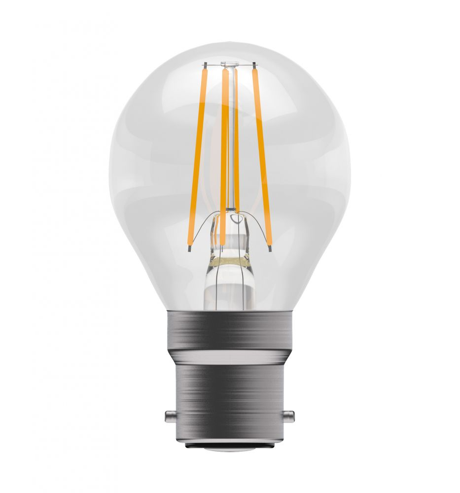 Bell Pro LED Filament Round Full Glass Dimmable 4W BC Warm White