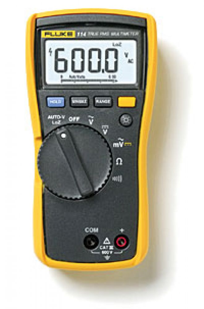 Fluke 114 Digital Multimeter Designed by electricians. Engineered by Fluke.