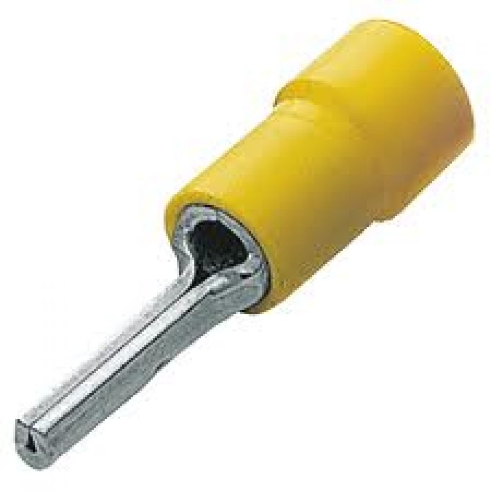 Yellow Pre Insulated Pin Terminal 4-6mm Cable