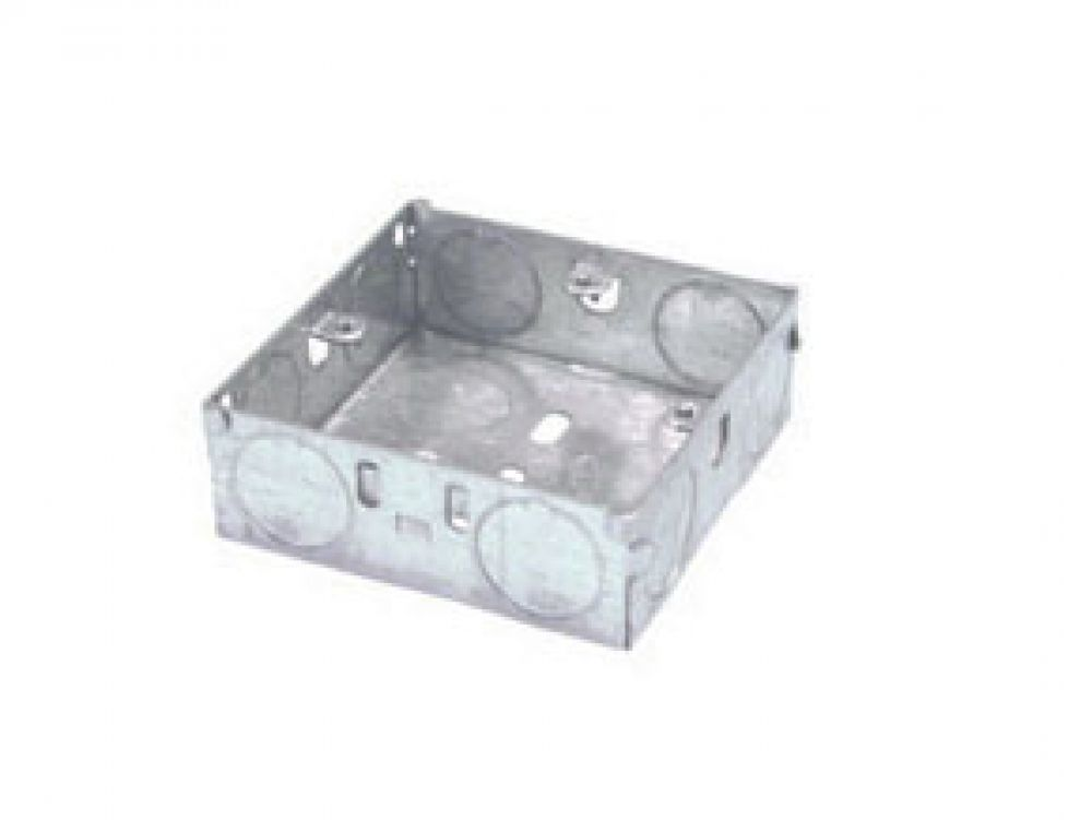 1 Gang Galvanised Steel 25mm Deep Back Box