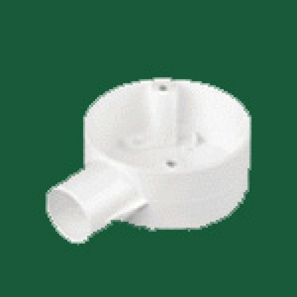 Marshall Tufflex White PVC Terminal Box (1 Way) 20mm