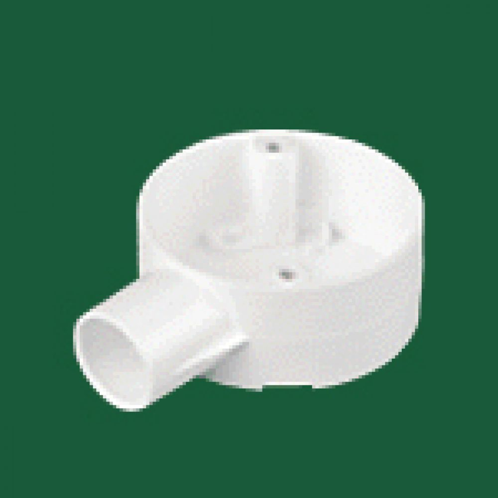 Marshall Tufflex White PVC Terminal Box (1 Way) 25mm