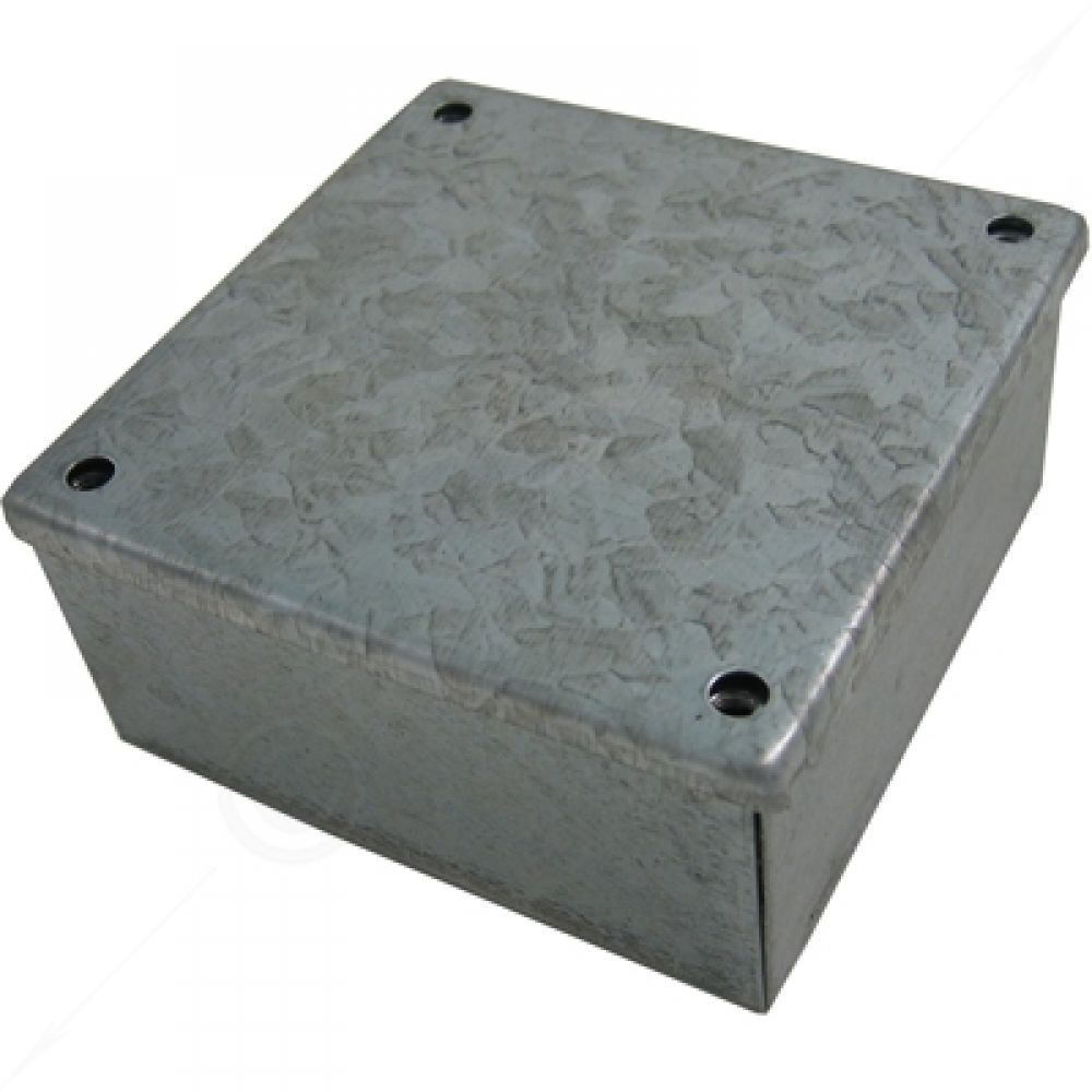 Greenbrook Pre Galvanised Plain Adaptable Box 100 x 100 x 100mm
