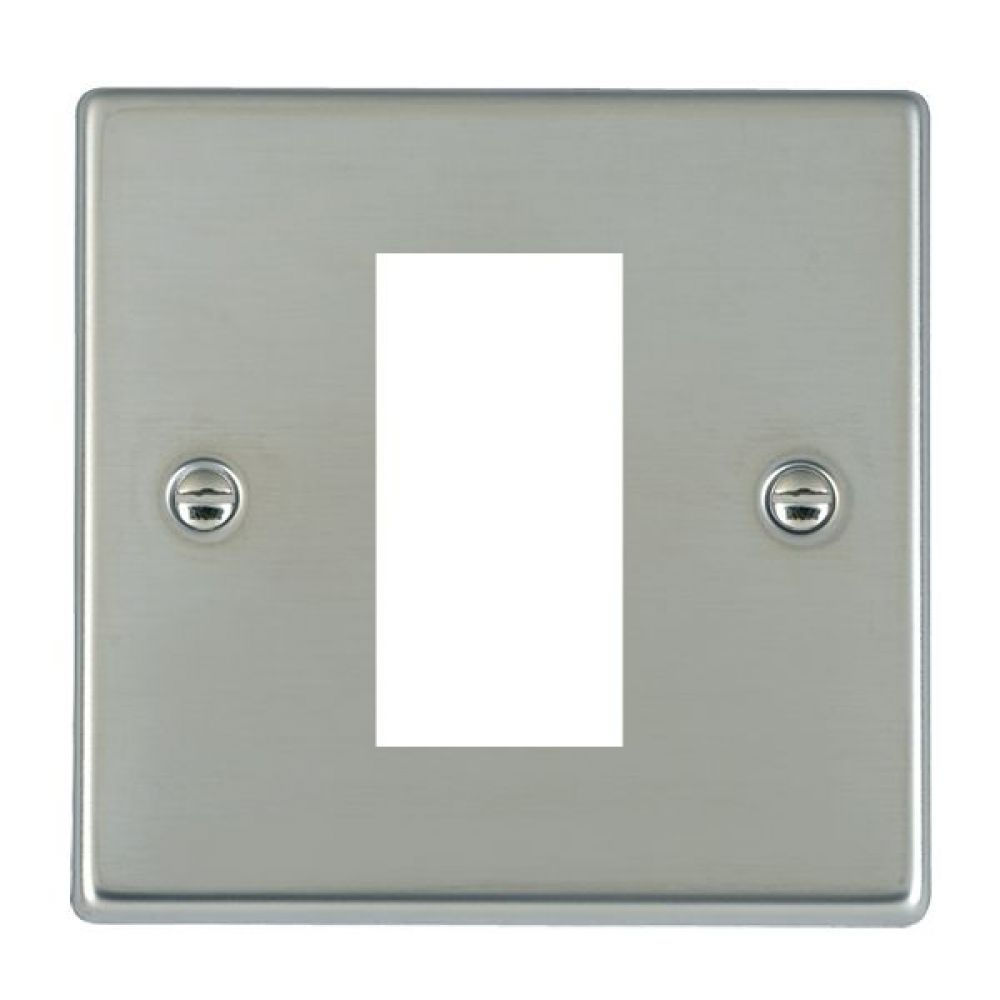 Hamilton Hartland Bright Stainless 1 Module EuroFix Plate