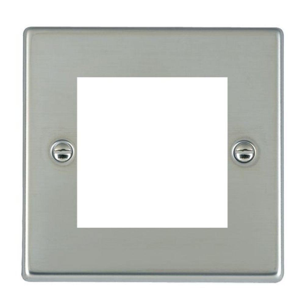 Hamilton Hartland Bright Stainless 2 Module EuroFix Plate