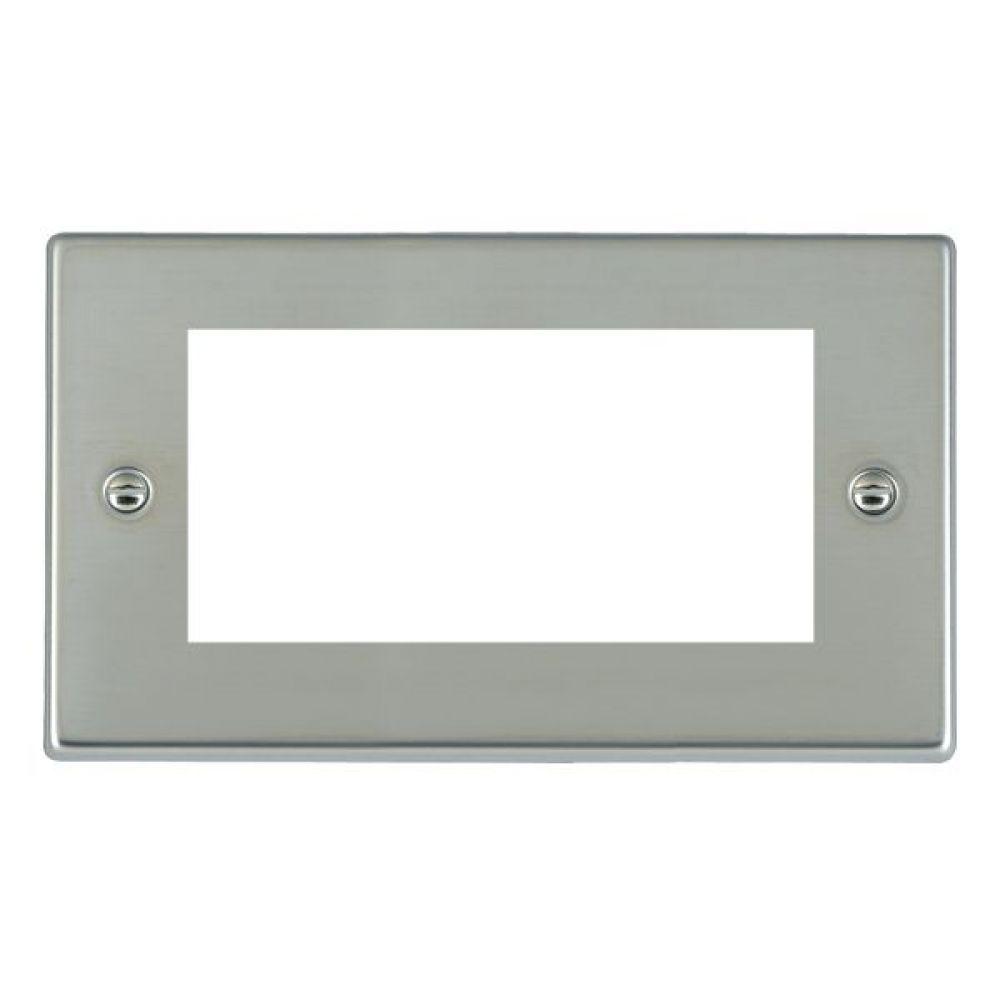 Hamilton Hartland Bright Stainless 4 Module EuroFix Plate