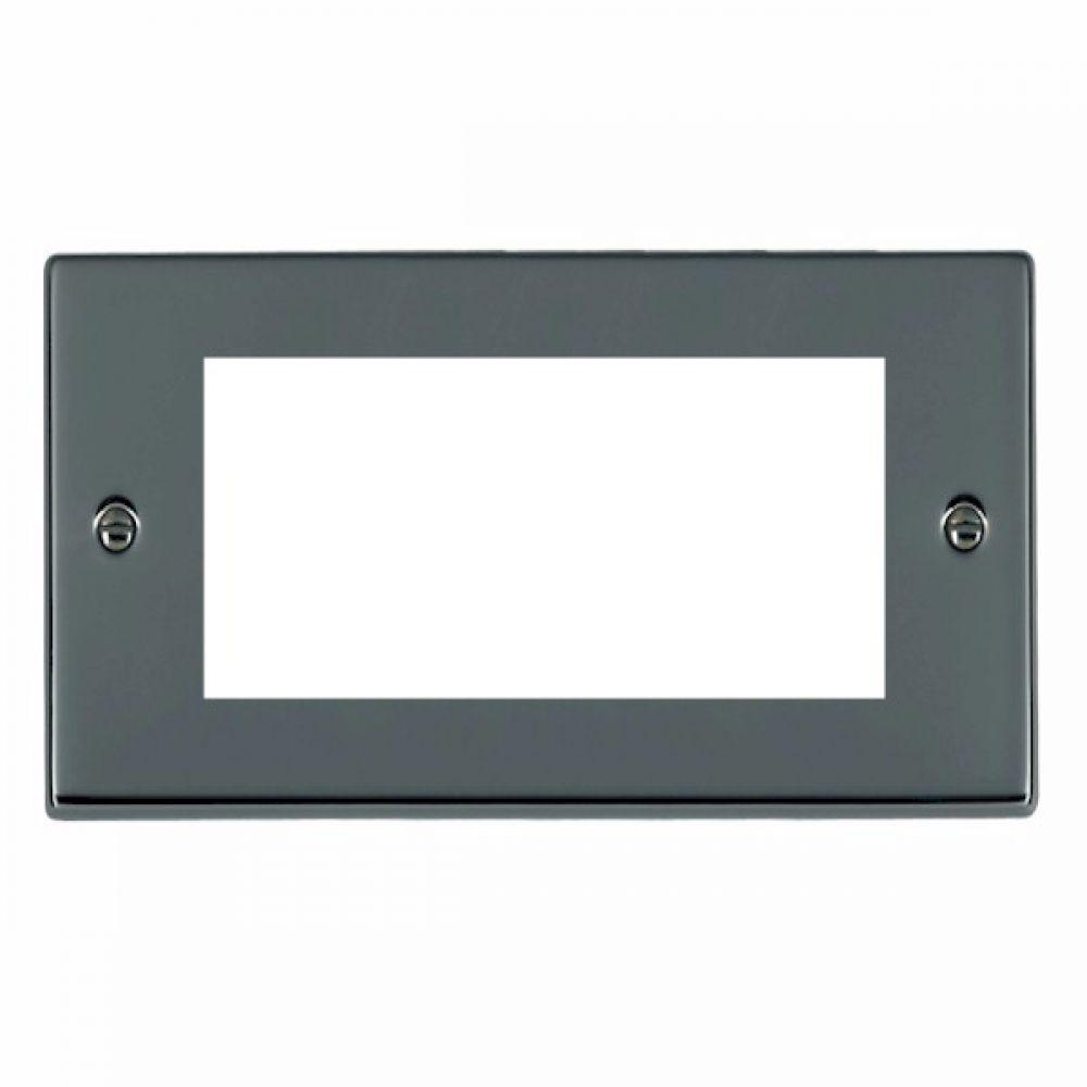 Hamilton Hartland Black Nickel 4 Module EuroFix Plate