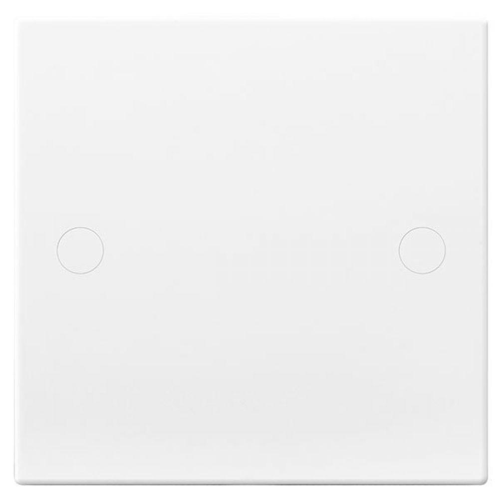 BG White Square Edge 25 Amp Flex Outlet Plate with Bottom Entry