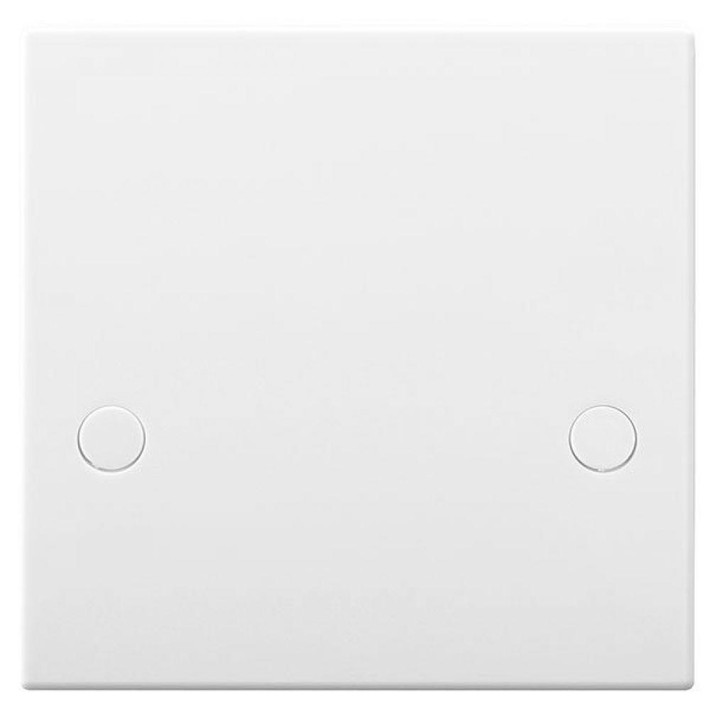 BG White Square Edge 45 Amp Flex Outlet Plate with Bottom Entry