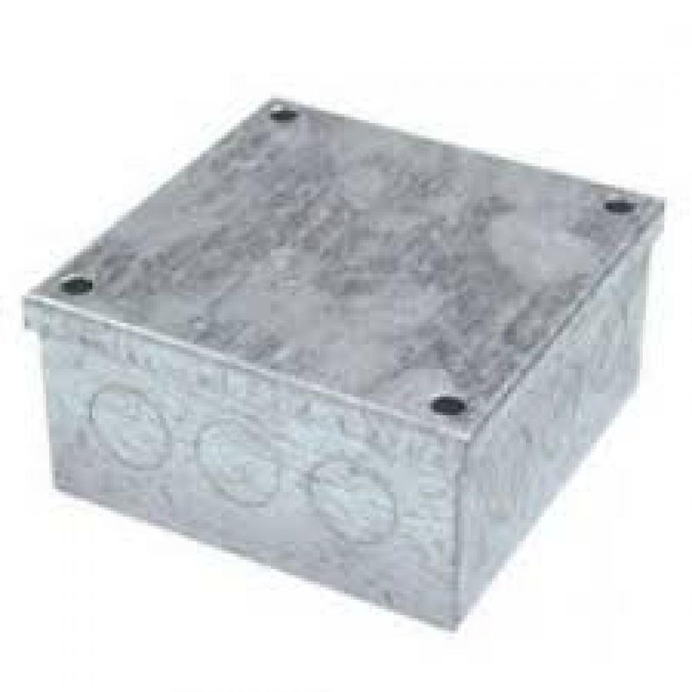 Greenbrook Pre Galvanised Adaptable Box c/w Knockouts 225 x 225 x 100mm