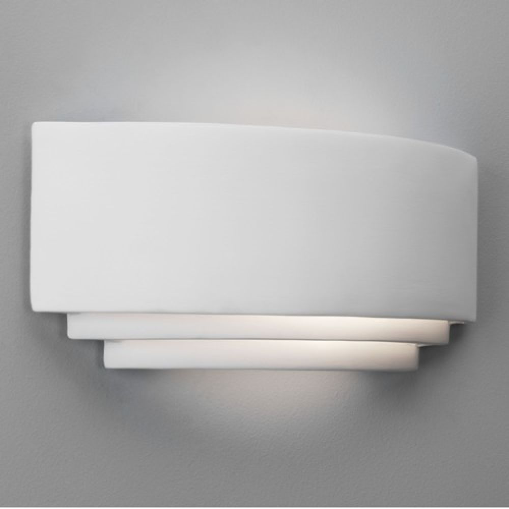 Astro Lighting 1079001 Amalfi 0423 Interior Wall Light. White Ceramic Finish