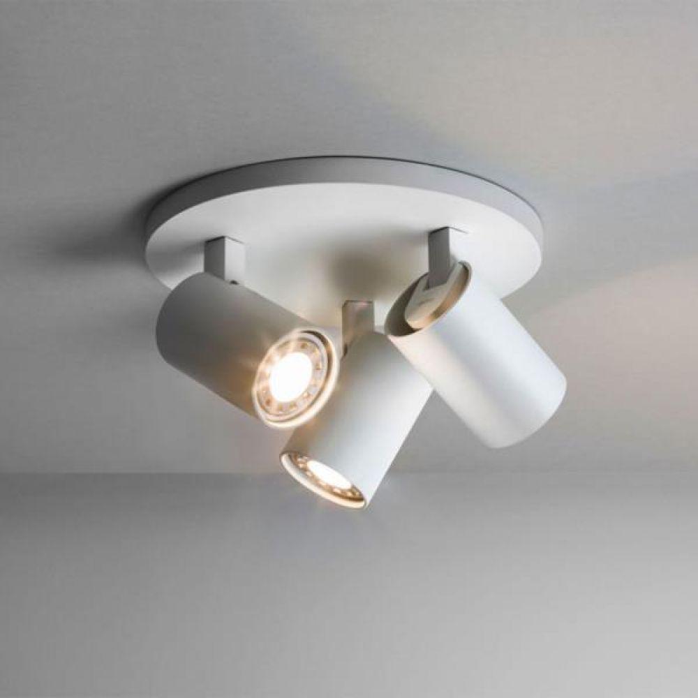 Astro Lighting 1286002 Ascoli Triple Round 6143 Interior Spotlight. White Finish