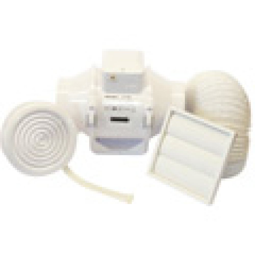 Aventa 100B In-Line Mixed Flow Fan Shower Kit