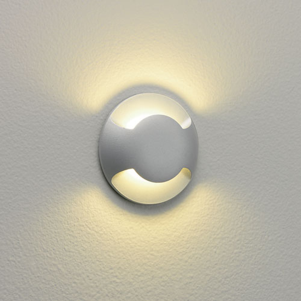Astro Lighting 1202002 Beam Two 0938 Exterior Wall Light. Painted Silver Finish