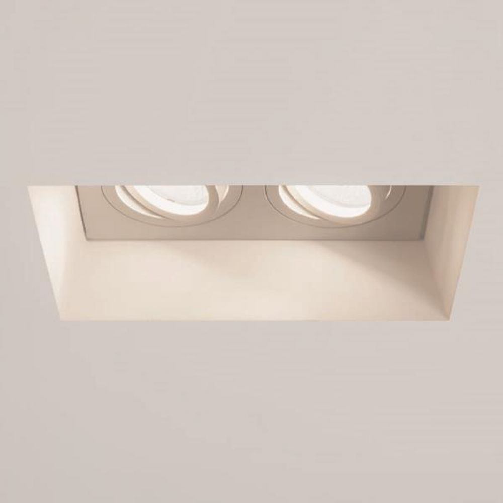 Astro Lighting 1253006 Blanco Adjustable Twin 7344 2 x 50W GU10 Plaster Interior Downlight